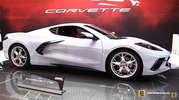 [VIDEO] 2020 Ceramic Matrix Gray Corvette Stingray on the Turntable at the LA Auto Show