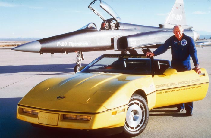 Chuck Yeager and the 1986 Corvette Indy 500 Pace Car