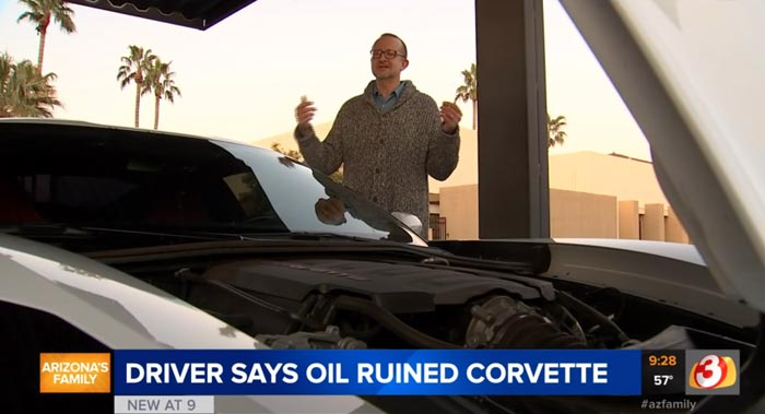 [ACCIDENT] Phoenix Man Says Driving Through Spilled Cooking Grease Ruined His 2017 Corvette