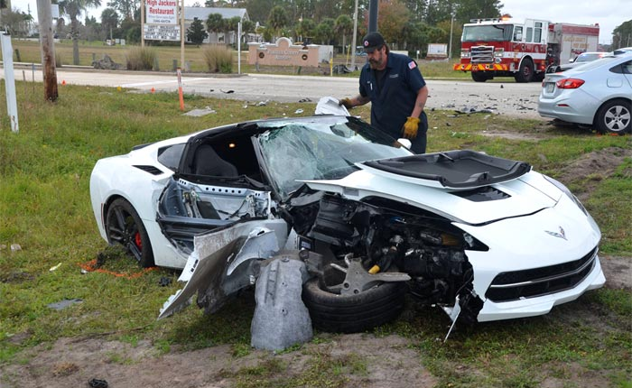 [ACCIDENT] C7 Corvette T-Boned in Florida By a Chevy Malibu