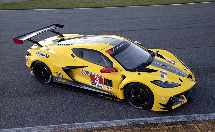 [PIC] First Look at Corvette Racing's No. 3 C8.R in Yellow/Silver Livery