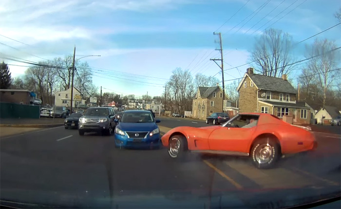 [ACCIDENT] Dash Cam Captures the Scary Moment a C3 Corvette Crashes into a Nissan