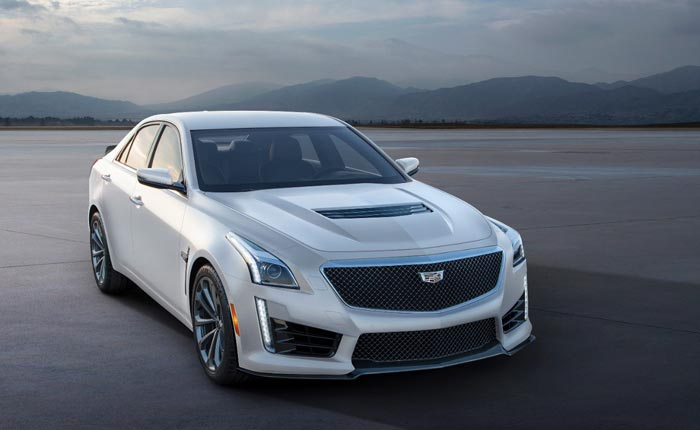 Cadillac CTS-V in Crystal White Frost