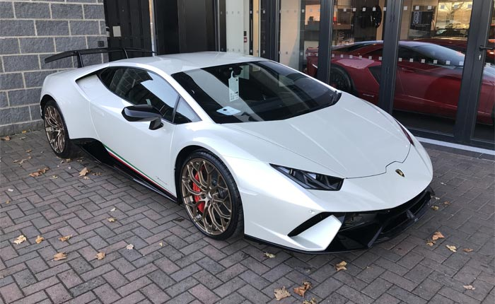 Lamborghini in Ballon White