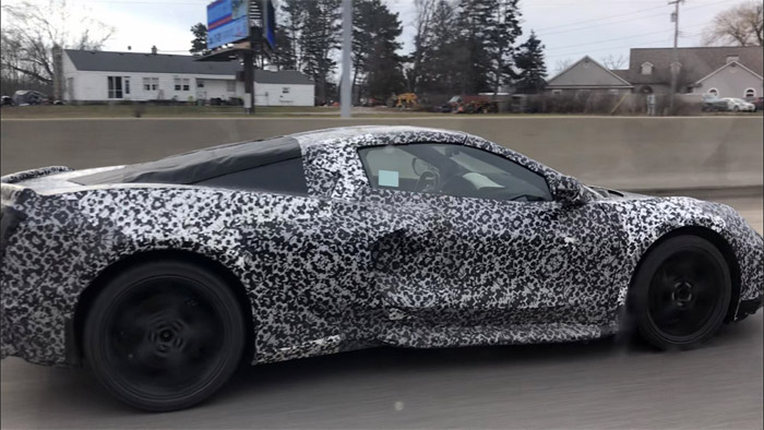 [SPIED] C8 Mid-Engine Corvette Spotted Driving to the Milford Proving Grounds