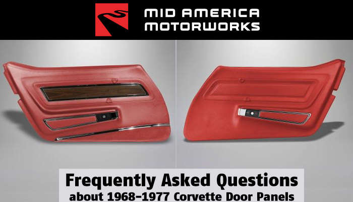 Mid America Motorworks and C3 Corvette Door Panels