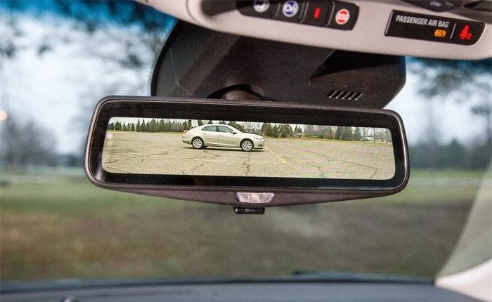 General Motors Cadillac Rear Camera Mirror Image (via GM Authority)