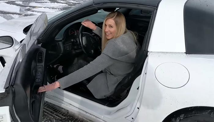 [VIDEO] I Hear It's Snowing So Let's Watch a Guy Teach His Wife to Drift in a C5 Corvette