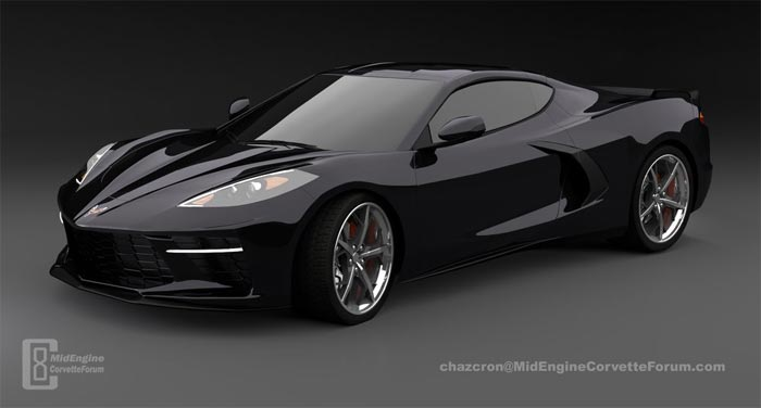 C8 render from Chazcrom and the MidEngineCorvetteForum.com