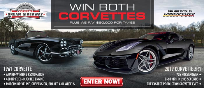 [PICS] Win a 2019 Corvette ZR1 and a 1961 Restomod in the 2019 Corvette Dream Giveaway!