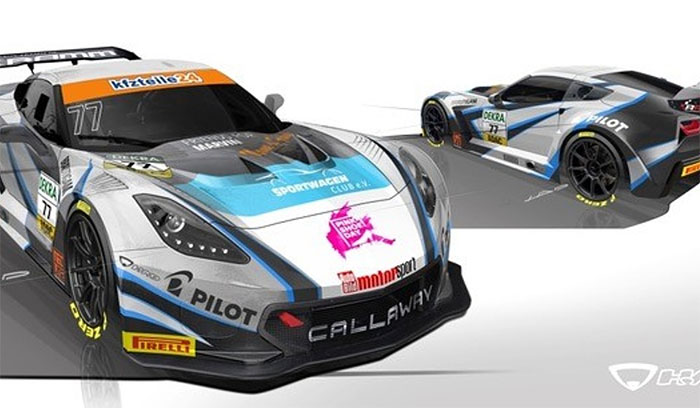 New Livery for Callaway Competition's Corvette C7 GT3-R for ADAC GT Masters
