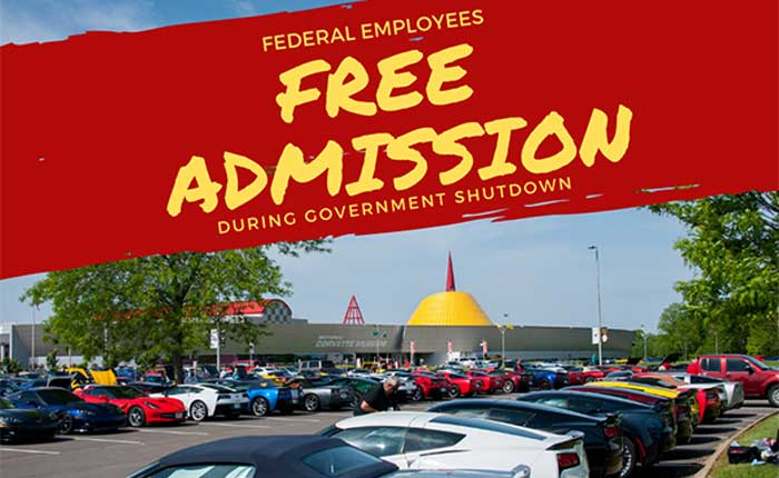 Corvette Museum Offering Free Admission to Federal Employees During Government Shutdown