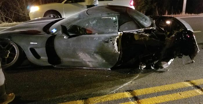 [ACCIDENT] Fiery Crash in Maryland Between a C5 Corvette Z06 and a Pickup Truck