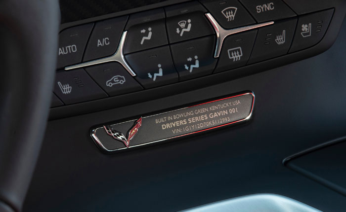Corvette Drivers Series Interior Plaque