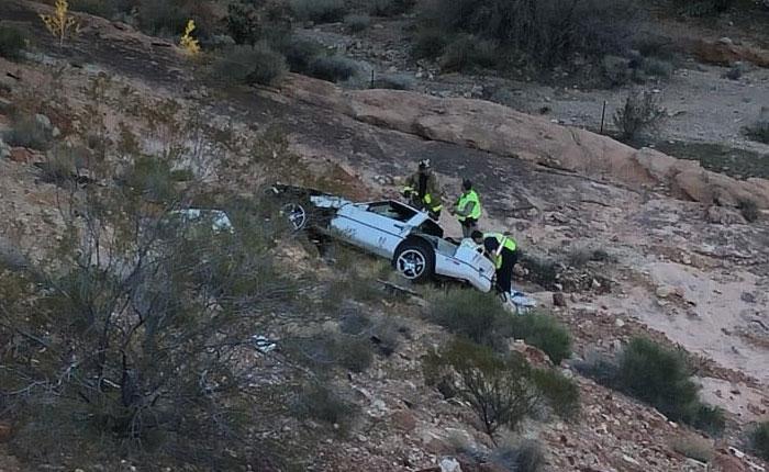 [ACCIDENT] C4 Corvette Plumments 150 Feet Down a Rocky Mountain in Arizona