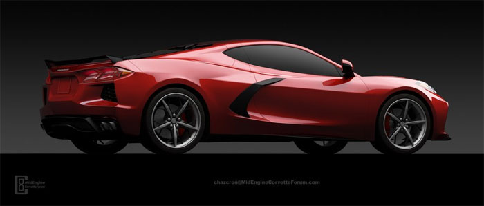 2020 C8 Mid-Engine Corvette Render