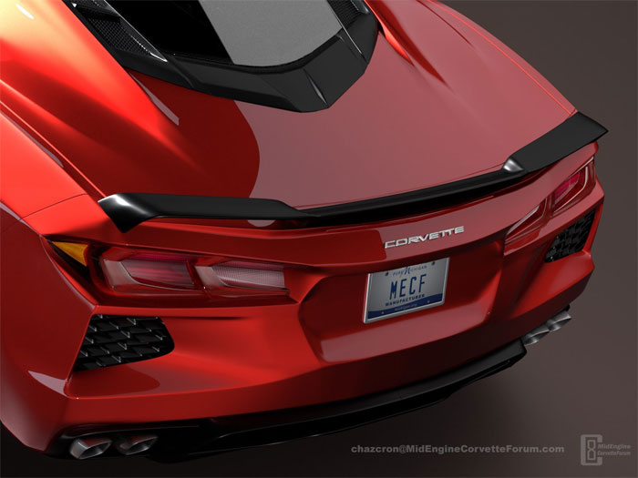 2020 C8 Mid-Engine Corvette Render