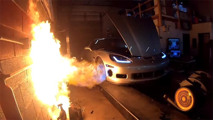 [VIDEO] Too Much Boost? Turbo C6 Corvette Nearly Lights Shop on Fire