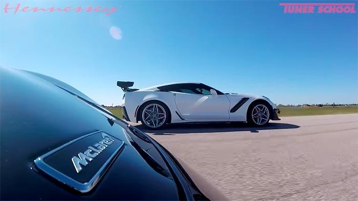 [VIDEO] Stock 2019 Corvette ZR1 Races a 600-HP 2019 McLaren 600LT