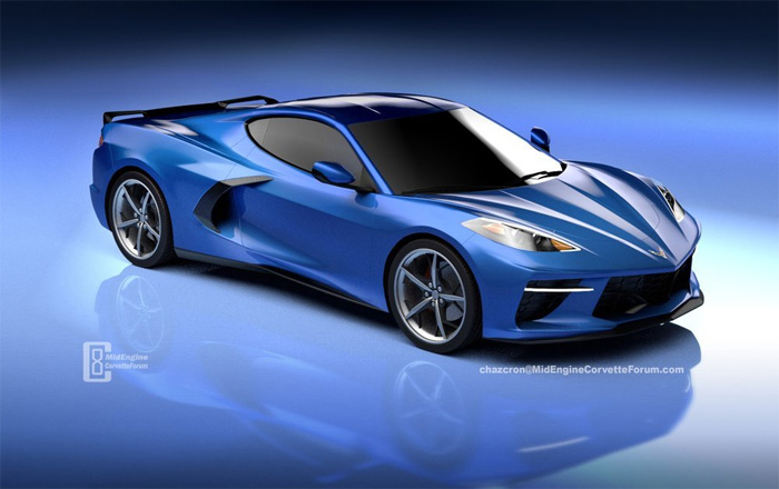 [PICS] C8 Mid-Engine Corvette Rendered in Blue