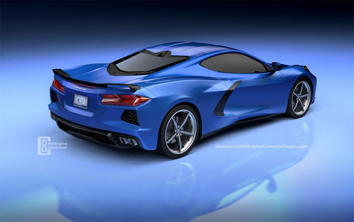 [PICS] Chazcron Renders the C8 Mid-Engine Corvette in Blue