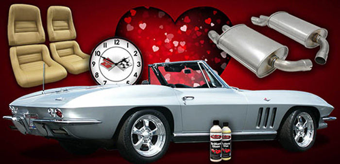 Free Shipping Offer from Corvette Central for Valentine's Day