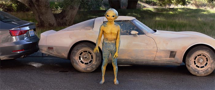 [VIDEO] Alien Drives a C3 Corvette In This New Butterfinder's Commercial