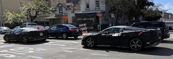 [SPIED] California Dreaming as Two C8 Mid-Engine Corvette Prototypes are Spotted in San Diego