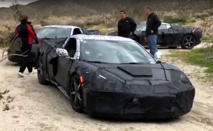[VIDEO] Corvette Ride Engineer Alex MacDonald Spotted With Group of Five C8 Corvettes