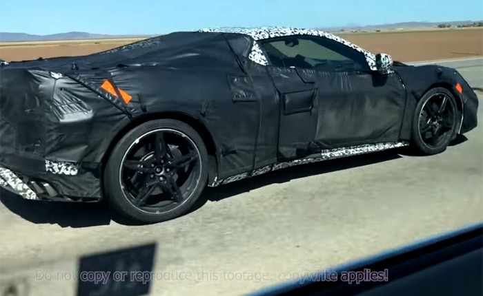 [SPIED] Caravan of Six C8 Mid-Engine Corvette Prototypes Spotted in Yuma