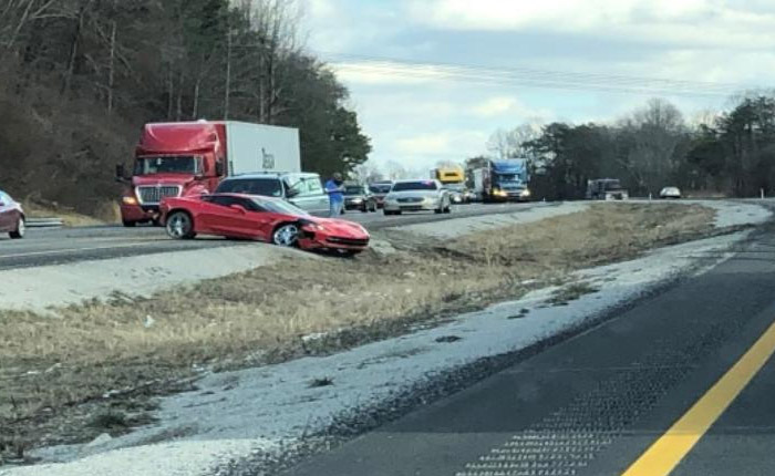 ACCIDENT] C7 Corvette Stingray Involved in Two Car Crash on I-64 in
