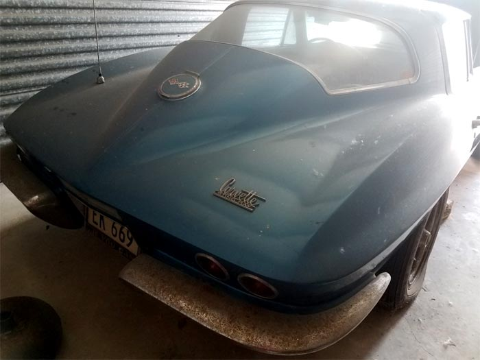 Corvettes for Sale: Price Lowered on a Barn-Find 1967 Corvette Sting Ray