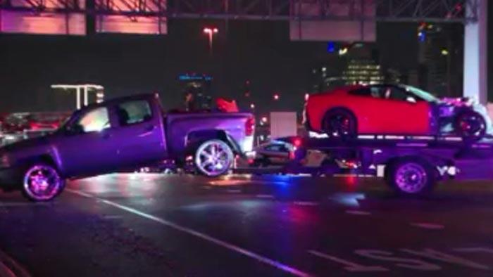 [STOLEN] Stolen C7 Corvette Crahses into Pickup Truck