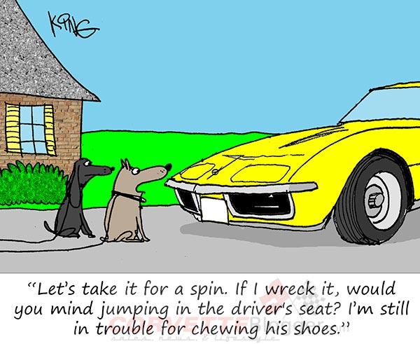 Saturday Morning Corvette Comic: The Secret Dreams of Pets