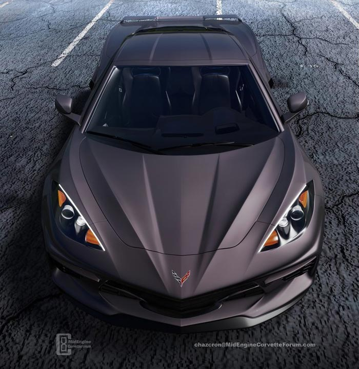 [PICS] Shadow Gray C8 Mid-Engine Corvette Rendered by Chazcron