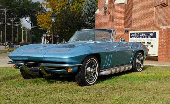 The 31st Annual St. Bernard Classic Corvette Raffle Features a 1965 Corvette Convertible Grand Prize