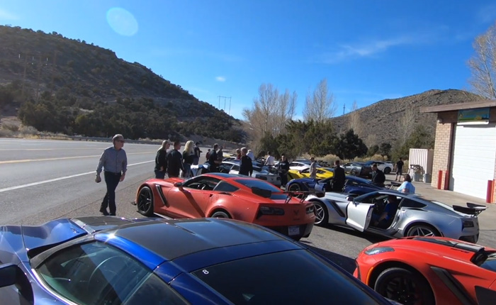 [VIDEO] Ron Fellows and 20 Corvette ZR1's Road Trip from Detroit to Spring Mountain
