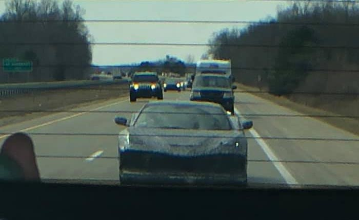 [SPIED] Solitary C8 Corvette Rolling Northbound Towards Flint, MI