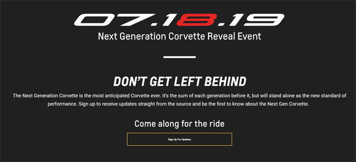 OFFICIAL: The C8 Mid-Engine 2020 Corvette Will Be Revealed on July 18th