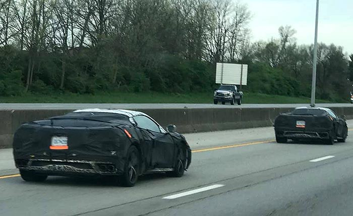 [SPIED] Caravan of C8 Corvette Prototypes Headed North