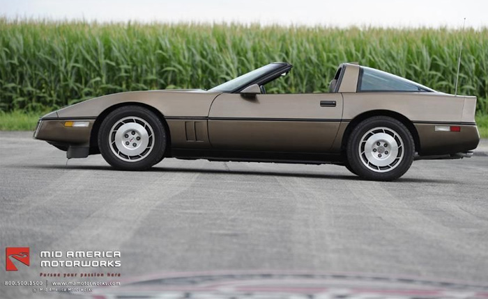 1986 Corvette in Medium Brown Metallic
