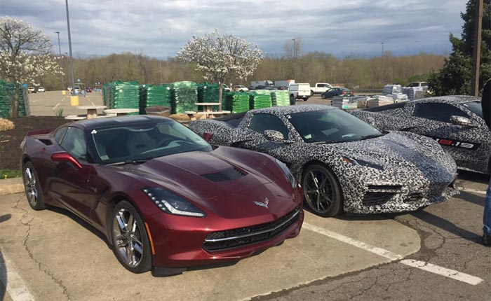 [SPIED] A Group of C8 Corvette Prototypes Spotted at a McDonald's in Ohio