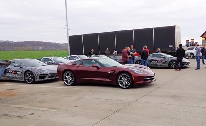 [PICS] A Group of C8 Corvette Prototypes Spotted at a McDonalds in Ohio