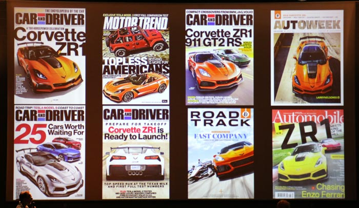 2019 Corvette ZR1 Magazine covers