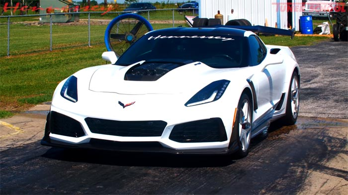 Video Hennessey S Hpe1000 Corvette Zr1 Is A 9 Second Quarter Mile Monster