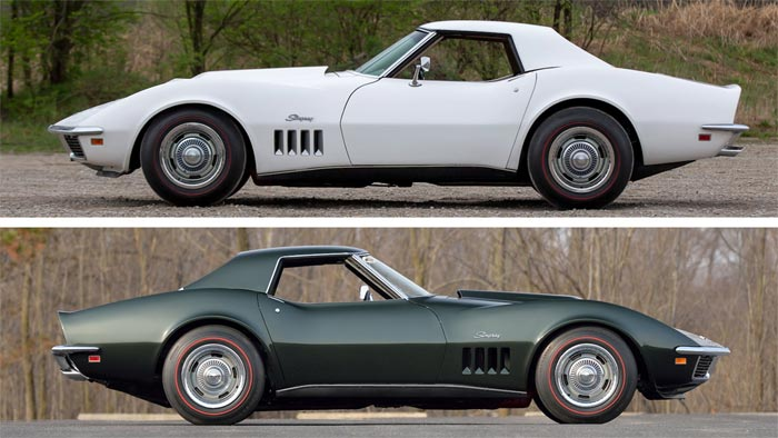 Pair of 1969 Corvette L88 Convertibles being offered as 1 Lot at Mecum Indy