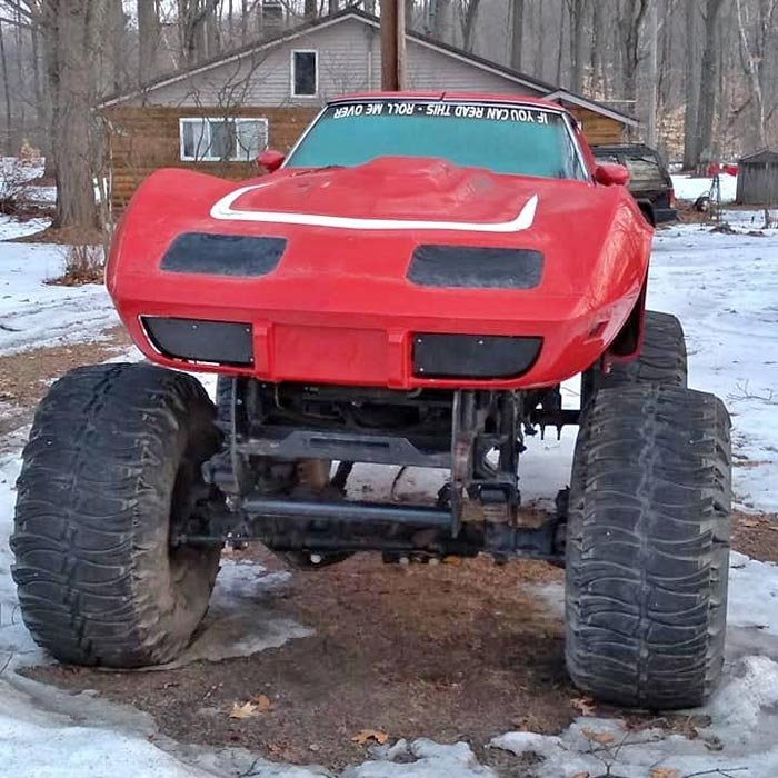Found on Facebook: Go Big or Go Home with this 1977 Corvette