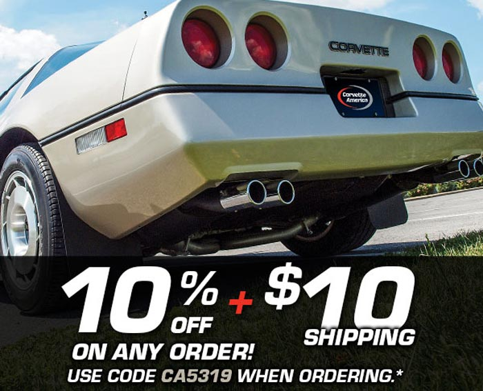 Save 10% and Get $10 Shipping on Any Order This Weekend at Corvette America