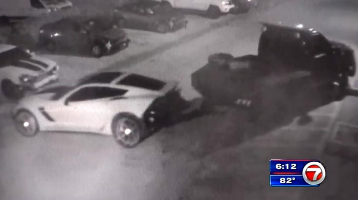 [STOLEN] Car Thieves Caught on Camera Stealing a C7 Corvette Z06 from a Florida Body Shop