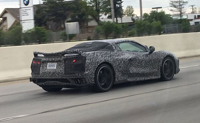 [SPIED] A C8 Mid-Engine Corvette Driving in the Fast Lane in Ohio